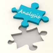 Analysis on puzzle — Stock Photo
