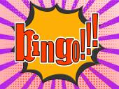 Bingo comic speech bubble — Stock Photo