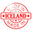 Made in Iceland red seal — Stock Photo #77927550