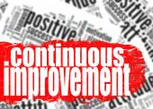 Continuous improvement word cloud — Stock Photo