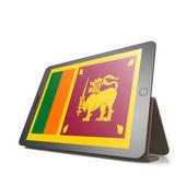 Tablet with Sri Lanka flag — Stock Photo
