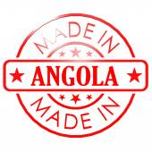 Made in Angola red seal — Stock Photo