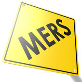 MERS road sign — Stock Photo