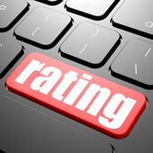 Keyboard with rating text — Stock Photo