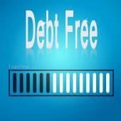 Debt free blue loading bar — Stock Photo