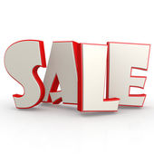 Sale word with white background — Stock Photo