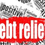 Word cloud debt relief — Stock Photo #80089382