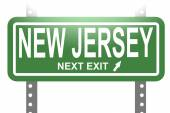 New Jersey green sign board isolated — Stock Photo
