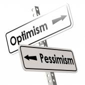 Optimism and Pessimism Road Sign — Stock Photo
