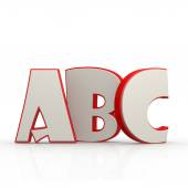 ABC alphabet with white background — Stock Photo
