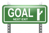 Goal green sign board isolated — Stock Photo