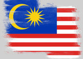 Flag of Malaysia painted with brush — Stock Photo