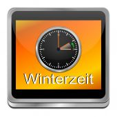 Winter time button — Stock Photo