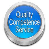 Jakość kompetencji usługi przycisk — Zdjęcie stockowe