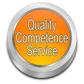 Kwaliteit bevoegdheid dienst knop — Stockfoto
