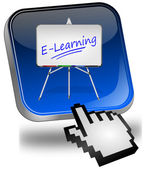 E-learning-taste mit cursor — Stockfoto