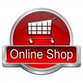 Online-shop-knop — Stockfoto
