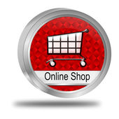 网上商店按钮 — 图库照片
