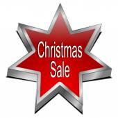 Christmas Sale star button — Foto Stock