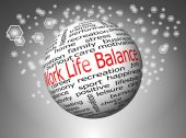 Work Life Balance wordcloud — Stock fotografie