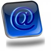 Botão e-mail — Fotografia Stock