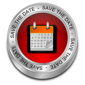 Save the Date Button — Stock Photo