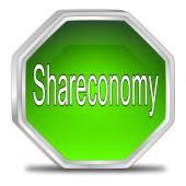 Shareconomy кнопка — Стоковое фото