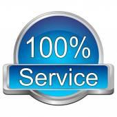 Hundred percent Service button — Stock Photo