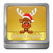 Christmas Sale button - in german — Stock Photo