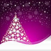 Vánoční přání s vánoční stromeček — Stock fotografie