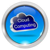 Bouton le cloud computing — Photo