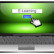Laptop with internet web search engine e-learning — Stock Photo #59065593