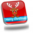 Reindeer wishing Merry Christmas Button — Stock Photo #59165359