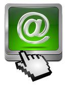 """Schaltfläche """"E-Mail"""" mit cursor — Stockfoto"""