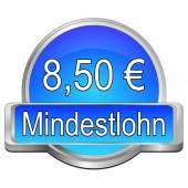 8,50 Euro minimum wage - in german — Stock Photo