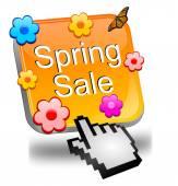 Spring sale button — Stock Photo