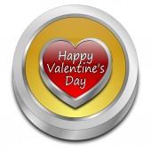 Happy Valentine's Day button — Stock Photo