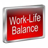 Work Life Balance button — Stock Photo