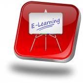 Elearning knop — Stockfoto