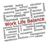 Trabajo vida equilibrio wordcloud — Foto de Stock