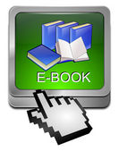 E-Book Button with Cursor — Stock Photo