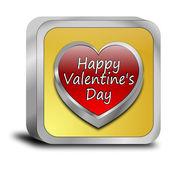 Счастливый день Валентина кнопка — Стоковое фото