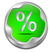 Discount button with percent symbol — Stock Photo