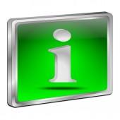 Informatieknop — Stockfoto
