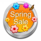 Bahar satış düğmesini — Stok fotoğraf