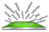 Hundred percent vegan wordcloud — Stock Photo