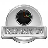Daylight saving time button — Fotografia Stock
