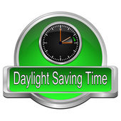 Daylight saving time button — Стоковое фото