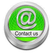 Tlačítko, kontaktujte nás — Stock fotografie