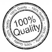 Hundred percent Quality rubber stamp — Stock Photo